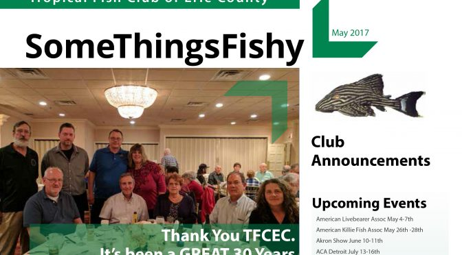 SOME THINGS FISHY ISSUE 5 VOL 30 May 2017