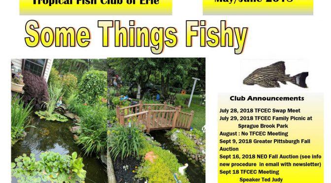 SOME THINGS FISHY ISSUE 4 VOL 31 JUL/AUG 2018