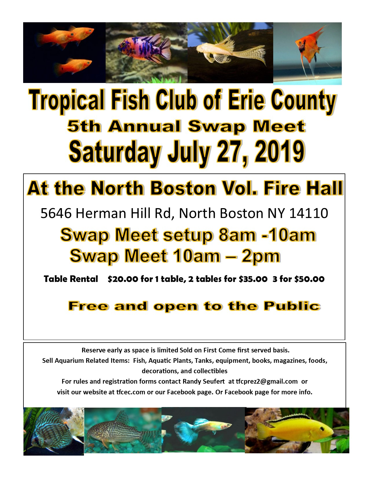 Featured Event – Tropical Fish Club of Erie County
